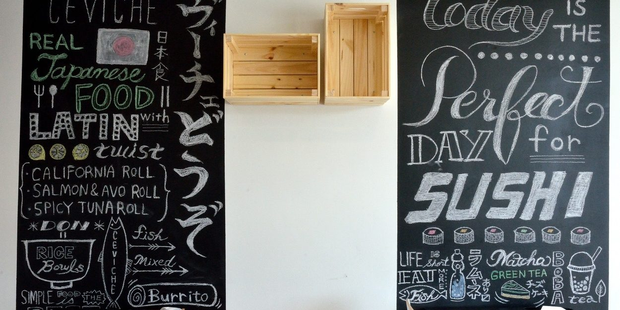 Internal Wall Ceviche DOZO Decoration Japanese Writing